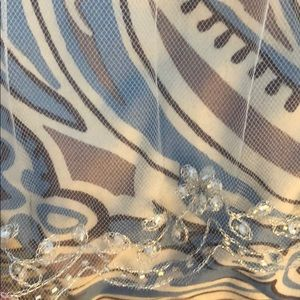 Double veil with beading